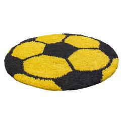 Bērnu paklājs Shaggy Fun Yellow, 100x100 cm