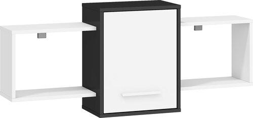 Plaukts Nordis 2D, melns/balts cena un informācija | Plaukti | 220.lv