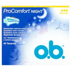 Tamponi O.B. ProComfort Night Normal 48 gab.