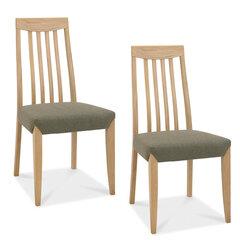 2 krēslu komplekts Bergen, brūns cena un informācija | Virtuves un ēdamistabas krēsli | 220.lv