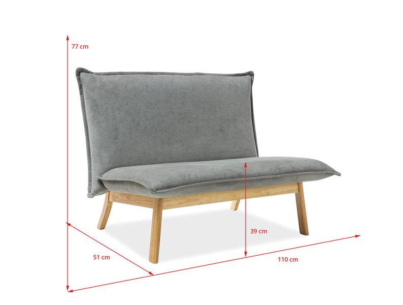 Dīvāns Bollo 2, pelēks
