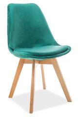 4 krēslu komplekts Dior, zaļš cena un informācija | Virtuves un ēdamistabas krēsli | 220.lv