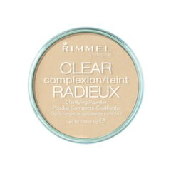 Kompakts pūderis Rimmel London Clear Complexion Clarifying Powder 16 g, 021 Transparent