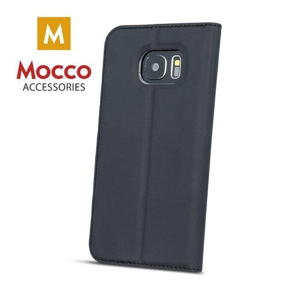 Atverams maciņš ar lodziņu Mocco Smart Look piemērots Nokia 6, melns