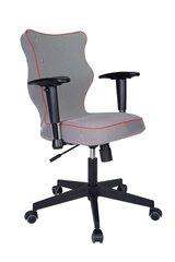 Ergonomisks biroja krēsls Nero LK14, pelēks/sarkans