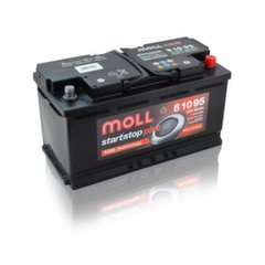 AGM akumulators MOLL 81095 Start-Stop Plus 95Ah 850A