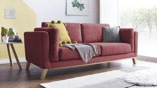 Trīsvietīgs dīvāns BoboChic Seattle, sarkans cena un informācija | Dīvāni | 220.lv