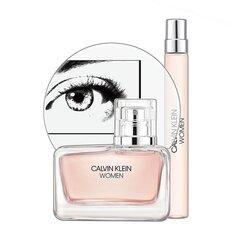 Komplekts Calvin Klein Women: EDP sievietēm 50 ml + EDP sievietēm 10 ml cena un informācija | Sieviešu smaržas | 220.lv