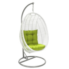 Piekaramais krēsls Cora, balts cena un informācija | Dārza krēsli | 220.lv