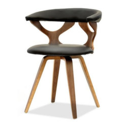 Krēsls Bonito, brūns/melns