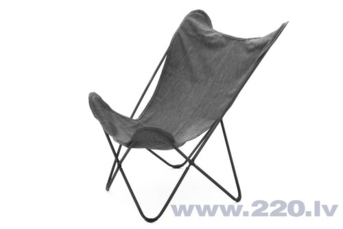 Salokāms pludmales krēsls Butterfly, pelēks