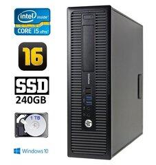 HP 800 G1 SFF I5-4570 16GB 240SSD+1TB DVD WIN10Pro cena un informācija | HP 800 G1 SFF I5-4570 16GB 240SSD+1TB DVD WIN10Pro | 220.lv