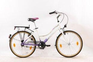 "Meiteņu velosipēds Leader Voyager 24"", violets/balts"