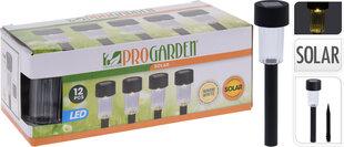 Montējams zemē dārza gaismekļu komplekts ar saules baterijām, 12 gab. cena un informācija | Montējams zemē dārza gaismekļu komplekts ar saules baterijām, 12 gab. | 220.lv
