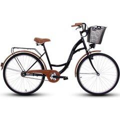 """Sieviešu pilsētas velosipēds Goetze Eco 26"""", melns/brūns"""