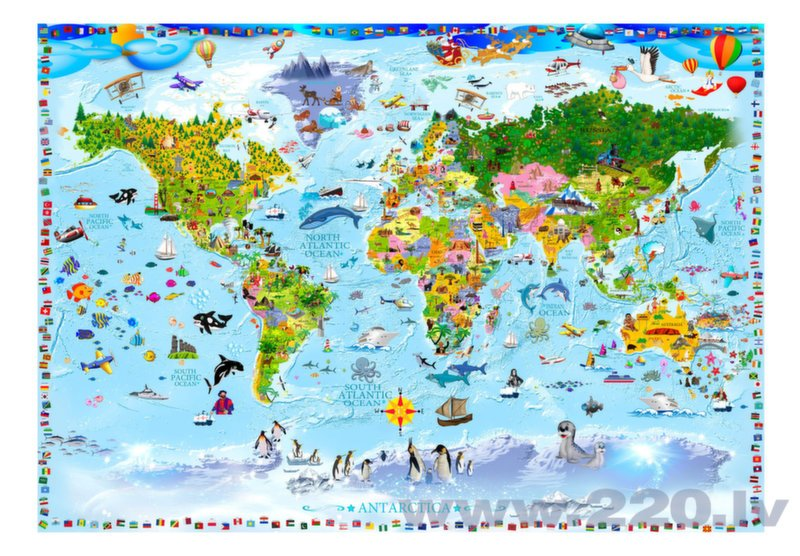 Foto tapete - World Map for Kids