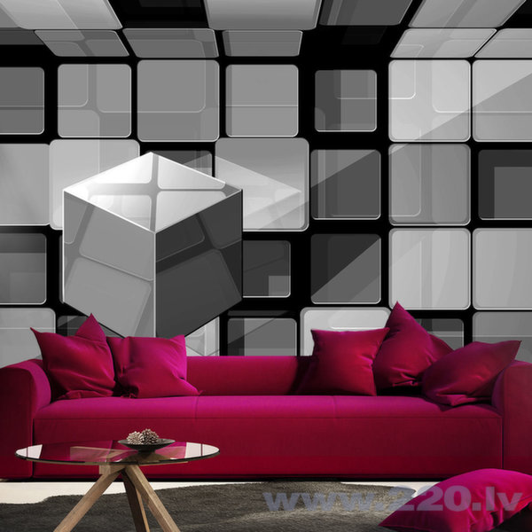 Foto tapete - Rubik's cube in gray