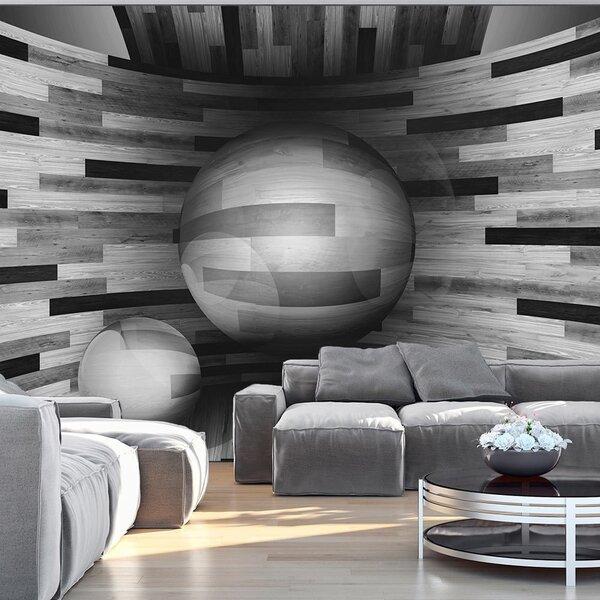 Foto tapete - Gray sphere