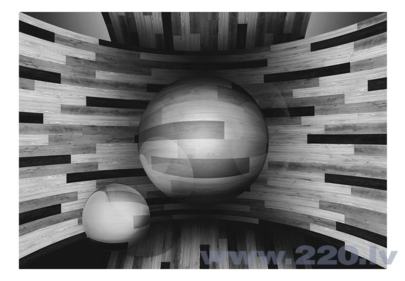 Foto tapete - Gray sphere