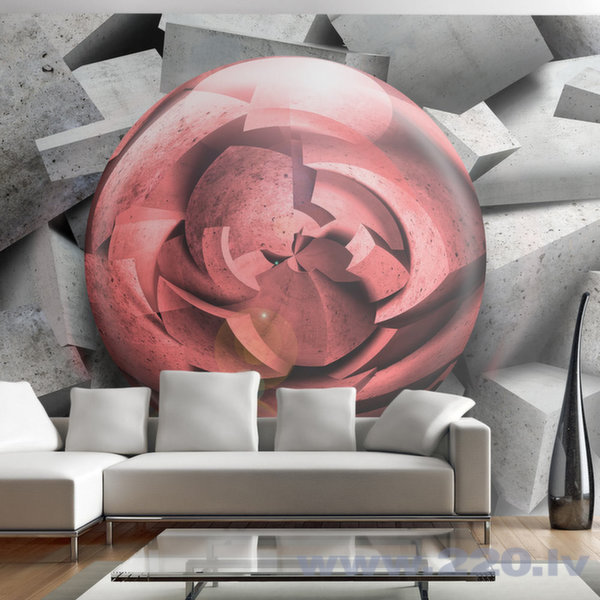 Foto tapete - Stone rose