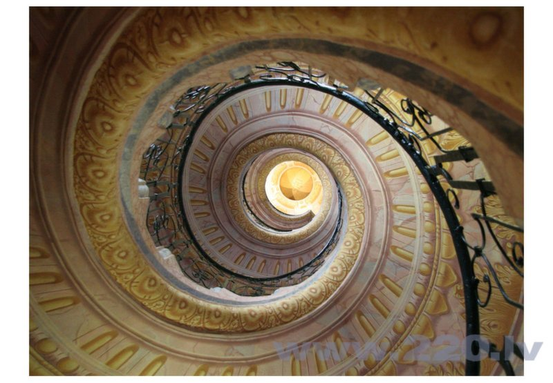 Foto tapete - Decorative spiral stairs cena
