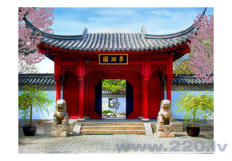 Foto tapete - Chinese botanical garden of Montreal (Quebec Canada) cena
