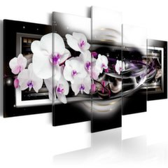 Glezna - Orchids on a black background