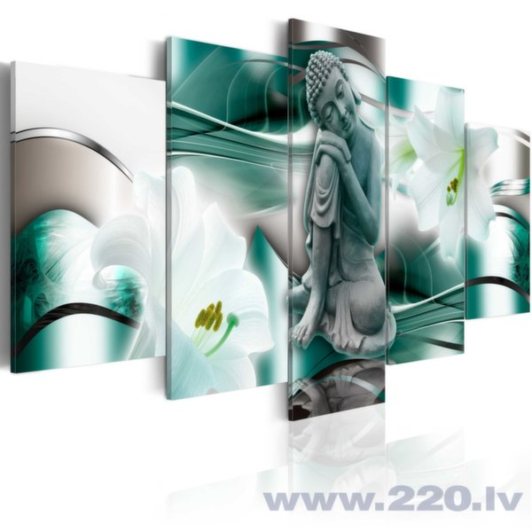 Glezna - Buddha and lilies cena un informācija | Gleznas | 220.lv