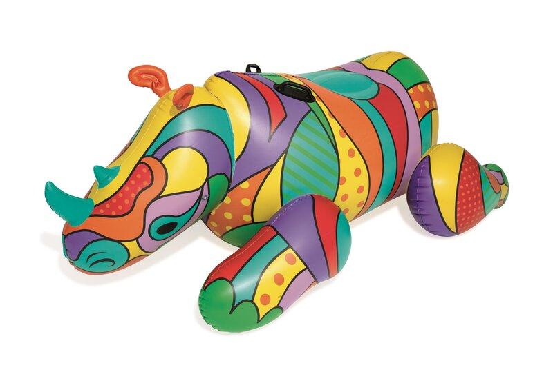 Piepūšamā ūdens rotaļlieta Bestway POP Rhino, 201x102 cm
