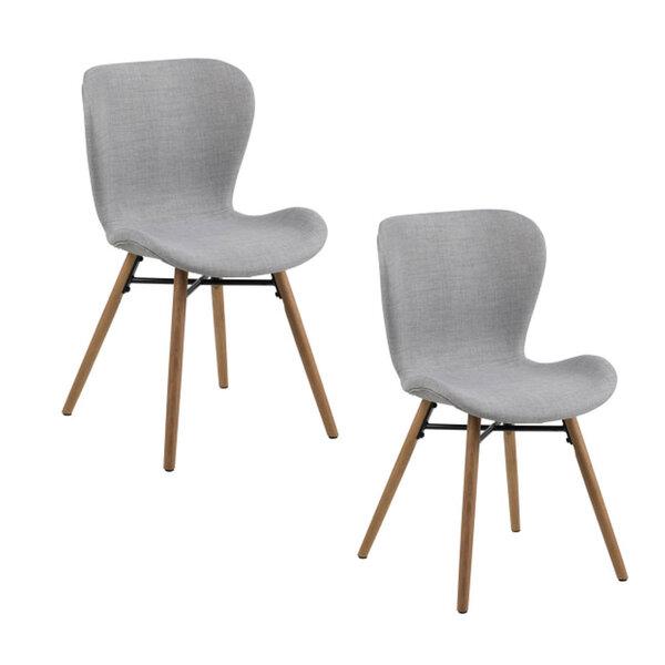 Комплект из 2-х стульев Batilda A1, серый/цвет дуба