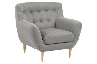 Klubkrēsls Oswald, pelēka/ozolkoka krāsa