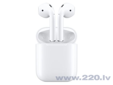 Apple AirPods 2 ar uzlādes paliktni, MV7N2ZM/A