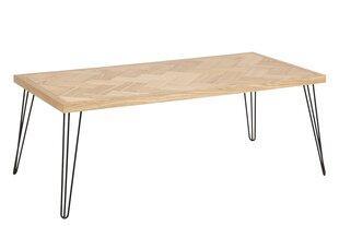 Kafijas galdiņš Maidstone, ozolkoka/melnas krāsas