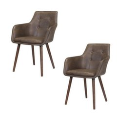 2 krēslu komplekts Johannesburg, Brūns cena un informācija | Virtuves un ēdamistabas krēsli | 220.lv