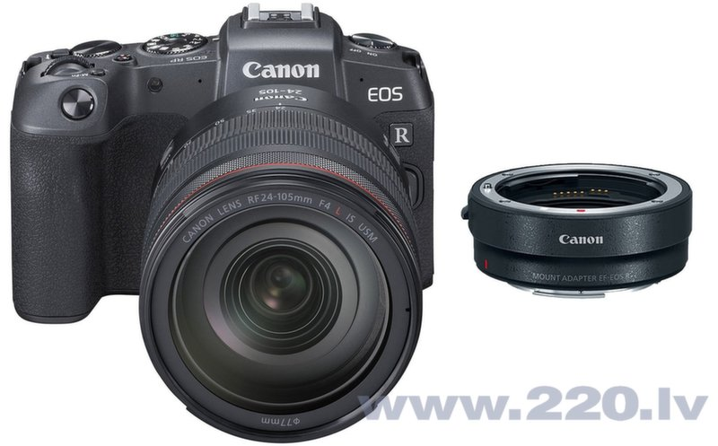 Canon EOS RP + RF 24-105mm f/4L IS USM + Mount Adapter EF-EOS R