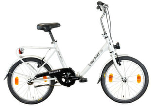 "Salokāms velosipēds Good Bike Genny 20"", balts"
