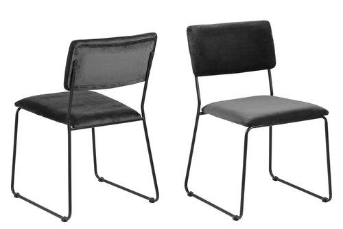 Набор из 2х стульев Cornelia, серый/черный