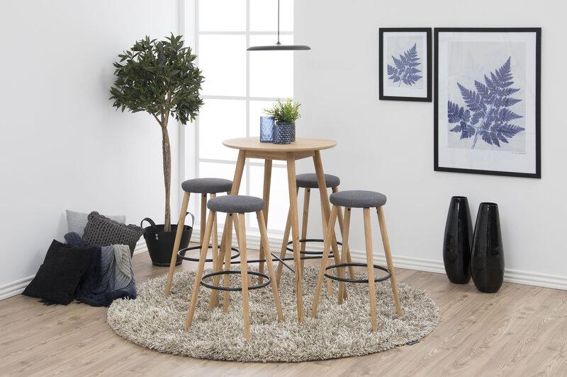 Комплект из 2-х барных стульев Hector, серый/цвета дуба