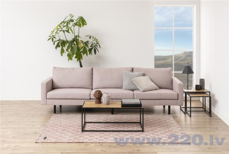 2 kafijas galdiņu komplekts Actona Seaford, melnā/ozola krāsā atsauksme