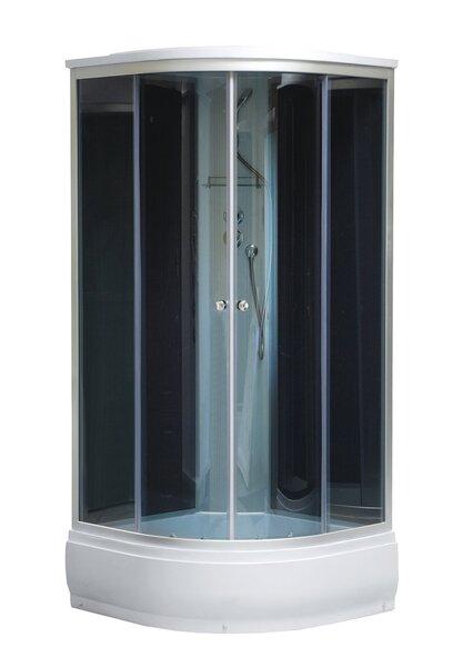 Dušas kabīne Era BOX Pelēka, tonēta stikla cena