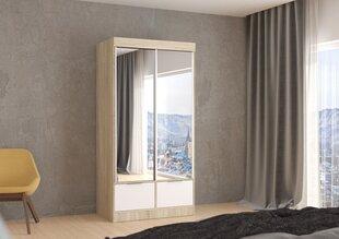Шкаф Pedro V2-2, белого/дуба цвет цена и информация | Шкафы-купе, распашные, угловые | 220.lv