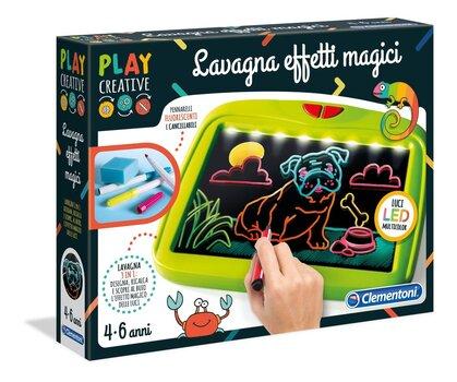 Burvju zīmēšanas tāfele ar LED apgaismojumu Clementoni, 15277 cena un informācija | Zinātniskās un attīstošās spēles, komplekti radošiem darbiem | 220.lv