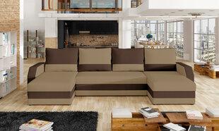 Universāls mīkstais stūra dīvāns Marion, brūns