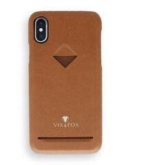VixFox Card Slot Back Shell for Iphone 7/8 plus caramel brown cena un informācija   Maciņi, somiņas   220.lv