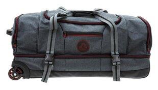 Ceļojumu soma ar riteņiem Travel in Grey, 90 l