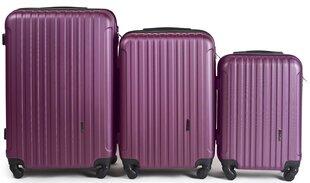 3 чемодана набор Wings 2011-3, темно-фиолетовый