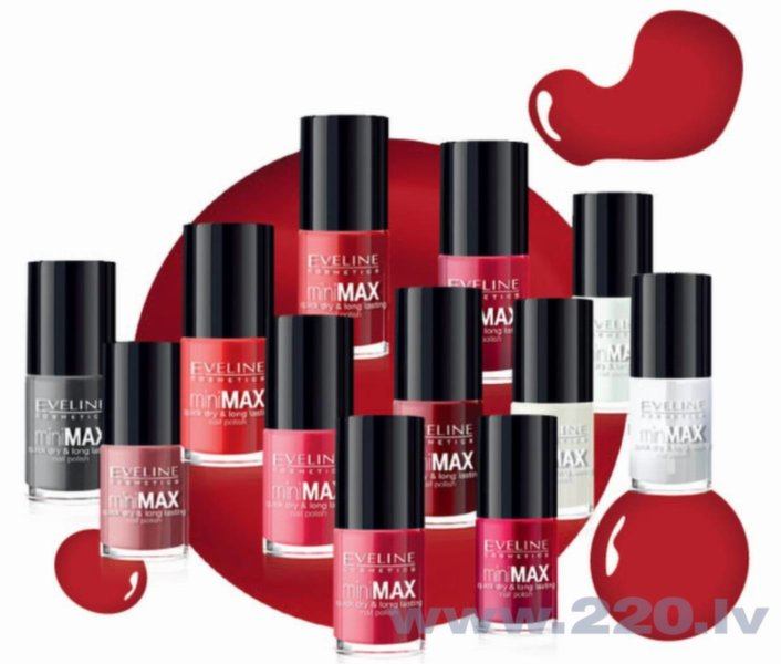 Nagu laka Eveline Cosmetics Mini Max 5 ml, nr. 192