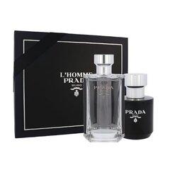 Komplekts Prada L'Homme vīriešiem: EDT 100 ml + dušas želeja 100 ml