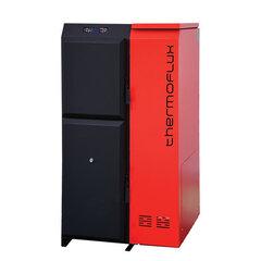 Granulu katls ThermoFLUX PELLING 50 ar granulu konteineri cena un informācija | Apkures katli un akumulācijas tvertnes | 220.lv