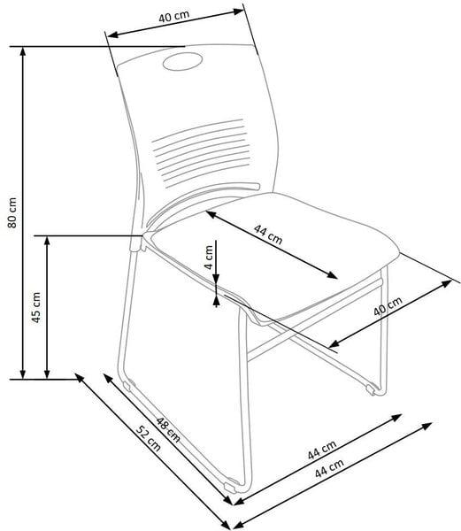 Комплект из 6 стульев для посетителей Halmar Cali, черный цена